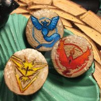 PokemonGO Team badges by kahahuna
