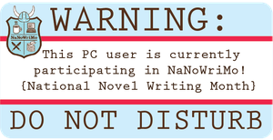 NaNoWriMo Laptop Sticker: PC by MoPotter