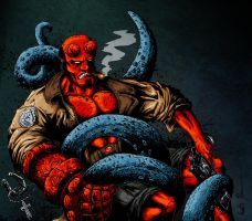 Hellboy - color by mkozmon