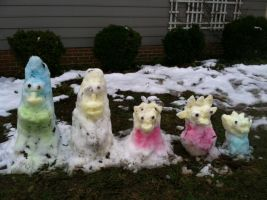 the simpsons snow men and women by dabbycats