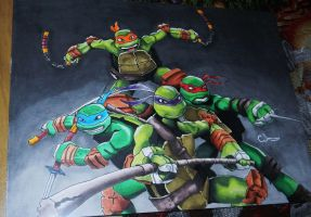 TMNT- xmas gift for my nephew ^ ^ by Raptchur