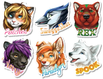 Winter 2016 Painted Badges 3 by GoldenDruid