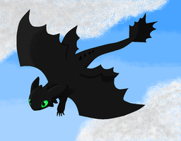 MS Paint Toothless by silverlionwolf