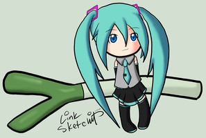 Day 190 - Miku's Giant Leek by LinkSketchit