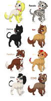 Catscratch OCs Gone To The Dogs by Rosethethief