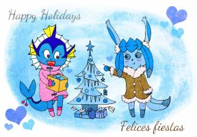 Frosty Christmas by PixieParrot