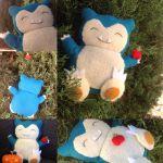 Snorlax with an Apple Plushie! by saywhatwhit