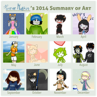 Art Summary 2014! by ForeverMuffin