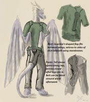 Anthro Clothing Design sketch by Doran-Eirok