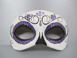 Day of the Dead metallic purple leather mask by maskedzone