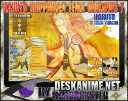 Naruto 9 Tails Chakra Theme Windows 7 by Danrockster