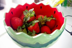 Strawberries In A Watermelon Bowl by jkstrlphinaestrd1780