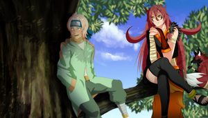 Collab_chat on the tree by SoulOfPersephone