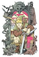 Link and the Legend of Zelda color by deankotz