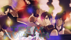 Team Avatar The legend of Korra by StarsBeforeUniverse