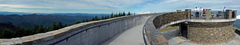 Mt. Mitchell Summit Panorama 4 by rdswords