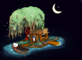 A floating house by milkpoo