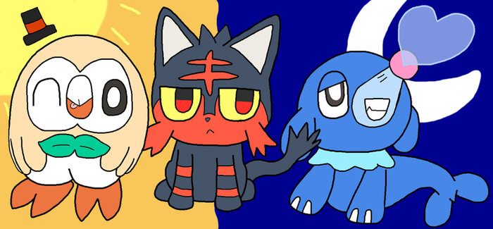 Gen 7 starters! HYPE!!! by Angelchao64