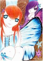 Two Butterflies... by BladeWithin