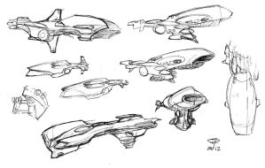 Carrier sketches by Pyrosity
