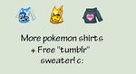 Pokemon Tees 2 REQUESTED| ''Tumblr'' Sweater by Pikatoot
