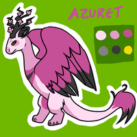 Azuret ref by happysmilysockeater