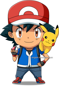 Pokemon - Chibi Ash by SergiART