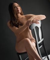 Nude and Black Chair by peterohara