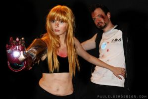 Pepper protects Tony by paulelder