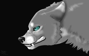 Angry Wolf by edizzle13