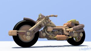 Steampunk bike: WIP by VincentGordon