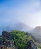 Indonesia Mountain Rock Stock by little-spacey