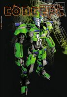 mecha ijo - 1001 concept cover by t-rob