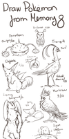 Draw Pokemon From Memory 8 by ShadeofShinon