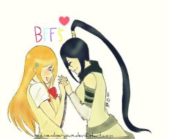 AT: Orihime and Tsubaki by scarlet-glow