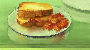 Food - Grilled Cheese Sandwich by Nightblue-art