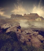 Premade Backround Fortress By Cindysart-stock by CindysArt-Stock