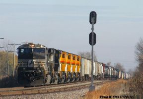 NS 31N with 4 brand new Cerrejon locomotives by EternalFlame1891