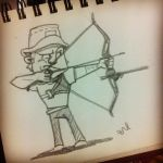 Olympic doodle - archery by artieyoon