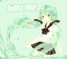 Bottle Miku by Nelfi
