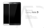 Samsung Galaxy Note 3 PSD Black White by danishprakash