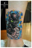 Devils Kitty by Anderstattoo