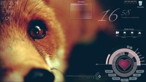 Fox Rainmeter Desktop by Emagyne