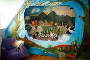 Child's Bedroom Mural by amyhooton