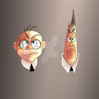 Flunky and Pencil Pusher by Seluktas