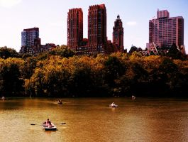 Boating in Central Park by izzybizy