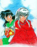 Inuyasha and Kagome by My-Magic-Dream