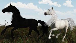 horses  A1 by fractal2cry