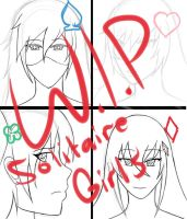 The Solitaire Girls [W.I.P.] by Xeitense