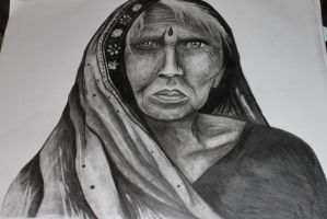 Portrait Indian Woman by athenadreamer